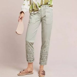 Anthropologie Eyelet Wanderer Utility Pants